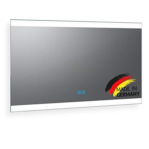 Spiegel ID Noemi 2020 Design: LED BADSPIEGEL mit Beleuchtung - Made in Germany - individuell nach Maß - Auswahl: (Breite) 120 cm x (Höhe) 70 cm - warm und kaltweiß inkl doppeltem Touch Sensor