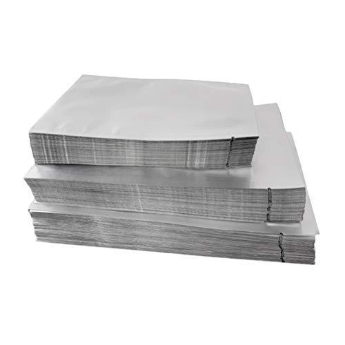 BESTONZON Mylar d'argent Sacs Plats en Aluminium Feuille d'emballage Sac en Vrac Sac de Rangement des Aliments pour la Cuisine à Domicile (100pcs 9x13)