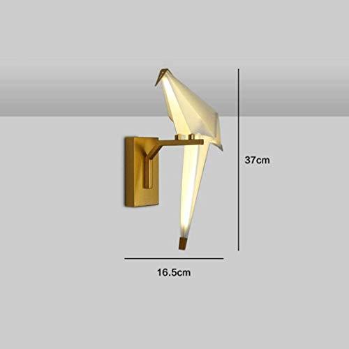 Mkjbd Wandlaterne Gartenlampe Wandleuchte Pendelleuchte Wandleuchte Wandleuchte Moderne Einfache Einkopfleuchte Wohnzimmer Lampen Thema Restaurant Freizeit Bar Personalisierte Lampen Vogel Papier Wan