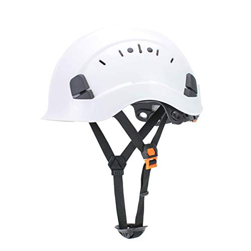 Uninova Safety Hard Hat - Adjustable ABS Climbing Helmet - 6-Point Suspension, Perfect for Riding, Climbing and Construction (White)