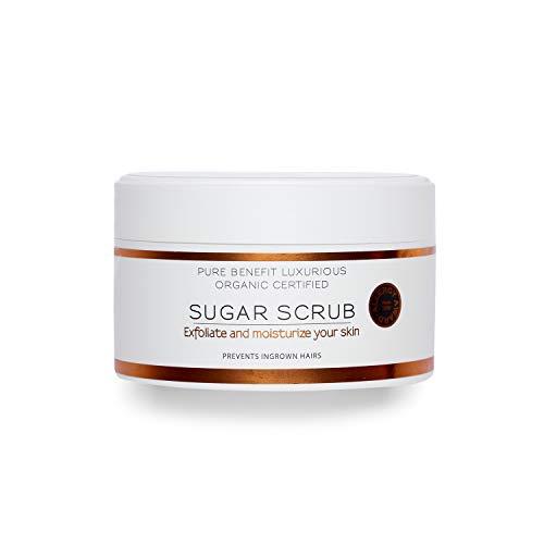 HEVI Sugaring Sugar Scrub 200g | Hautpflege zwischen Haarentfernungen | Entfernt sanft abgestorbene Hautzellen | Reduziert eingewachsene Haare | Bio-zertifiziert | Für Intimbereich | Frauen und Männer