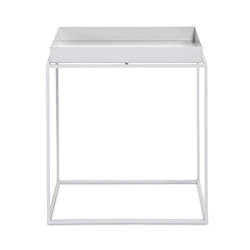 Hay Beistelltisch, Stahl, weiß, 40 x 40 cm