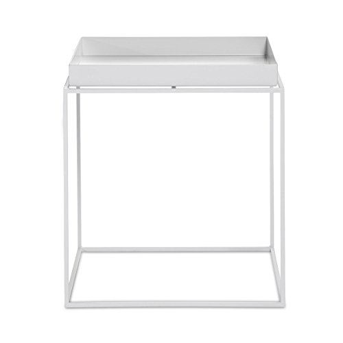 HAY Tray Table/Coffee Table-Medium-White, Powder-Coated metal, Coffee Table Side Table by HAY