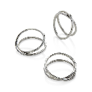 Aria Silver Napkin Ring in Napkin Rings + Reviews | Crate and Barrel