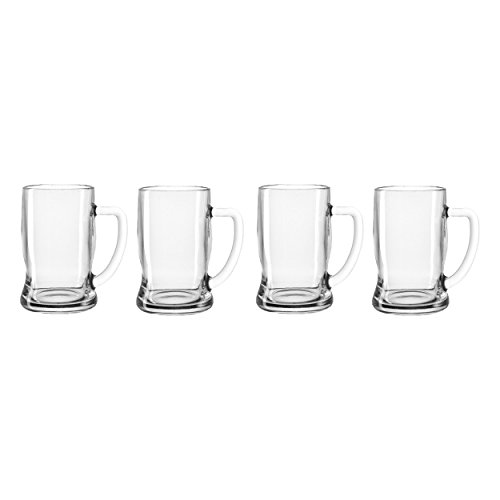 Leonardo Taverna Bierseidel, 4er Set, Bierkrug, Krug, Bierglas, Humpen, Bier Glas, Glaskrug, 330 ml, 49457