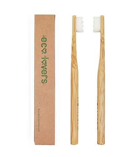 HOMESTO Biodegradable Bamboo Toothbrush with Micro-Nano Ultra Soft 20,000 Bristles, BPA-Free,...