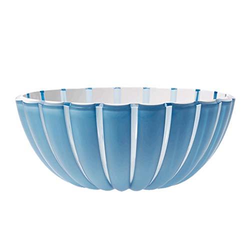 Fruit basket Obstkorb Blütenblatt Obstkorb Snack Salatschüssel Obstteller Blauer Kunststoff Obstkorb Shell Food Plate Geschenk Für Kinder (Color : Blue, Size : 12 * 12 * 5cm)