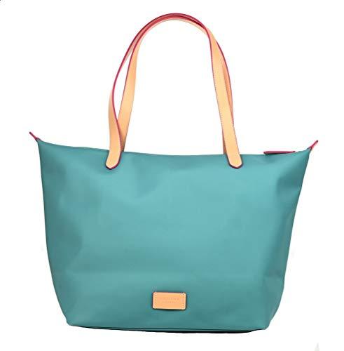 Radley Einkaufstasche / Strandtasche, Nylon, mit Reißverschluss, groß, Aqua