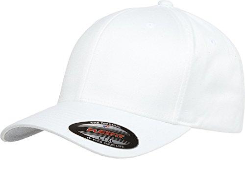 Flexfit Passgenaue Kappe für Herren Athletic Baseball, weiß, Größe L/XL
