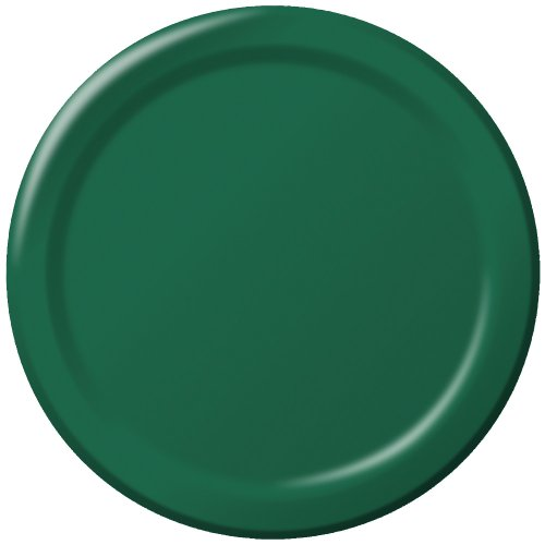 Creative Converting Touch of Color 24 Count Paper Lunch Plates, Hunter Green