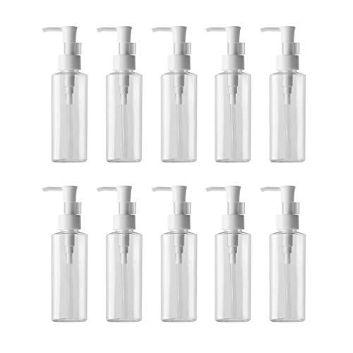 Lurrose Leere Pumpflaschen, 200 ml, für Make-up, Flüssigkeit, Lotion, Pumpspender, Reinigungsöl, Spender, Flaschen für Zuhause, Reisen, 10 Stück