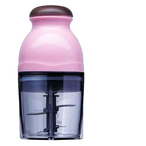 Cpippo Babynahrungszubereiter,Baby Küchenmaschine Multifunktional Tragbar,Smoothie, Milchshake, Gemüse, Fleischwolf,12.000 U/min,600 ml,Mini-Food-Processor, 23.8cm×11.8cm,pink