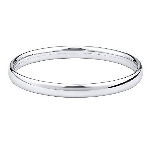 SILVEGO Damen Armband aus 925 Sterling Silber Armreif Poliert Breite 7 mm