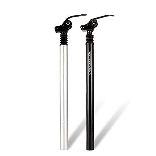 GYAM Amortiguador Suspensión Tija de sillín Bicicleta de montaña Amortiguación Bicicleta de montaña Tija de sillín de Bicicleta eléctrica Tubo de sillín Reversible,Negro,31.8mm
