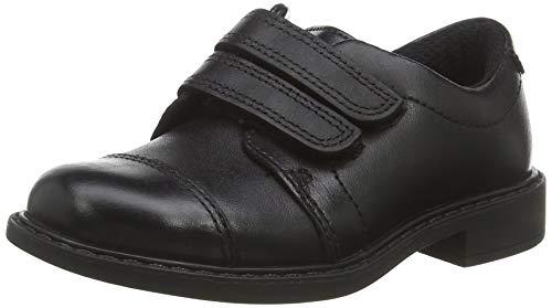 Clarks Scala Skye T, Mocasines Niños, Negro (Black Leather Black Leather), 27 EU