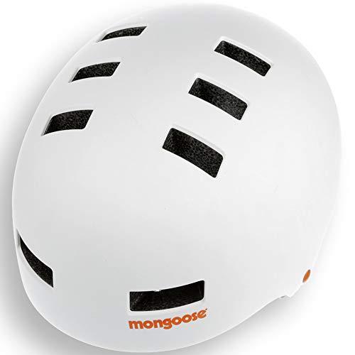 Mongoose BMX Helmet LG WHT Helm, weiß/orange, Large/60-62 cm