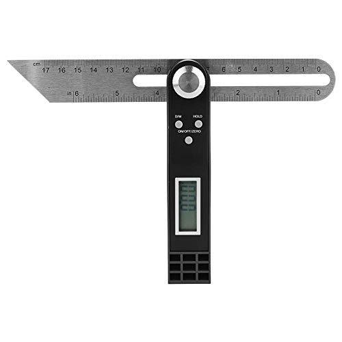 Pantalla digital Actividad del transportador T Regla de ángel 0~360 ° Goniómetro...