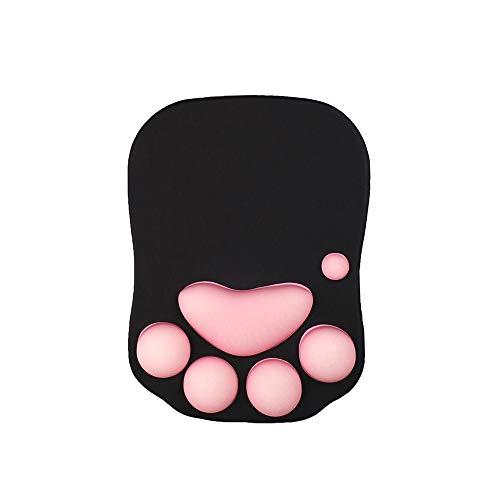 Alfombrilla de ratón con forma de garra de gato, almohadilla de silicona para el descanso de la muñeca, almohadilla de muñeca súper...