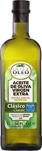 InterOleo - Aceite de Oliva Virgen Extra (AOVE) Clásico, Monovarietal Picual, Sabor Suave, Extracción en Frío, 1 LT