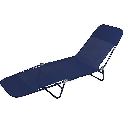 Cadeira Espreguiçadeira Mor Azul Textilene