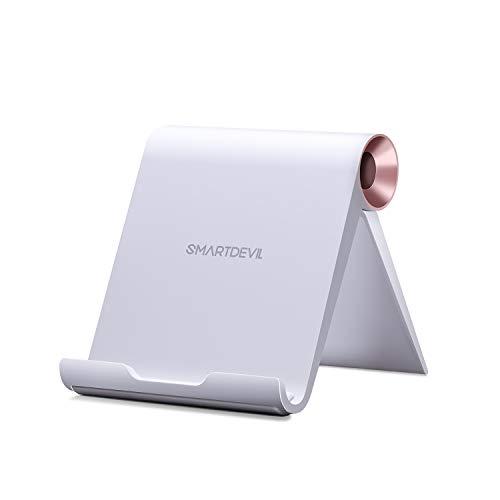 SmartDevil Soporte Tablet, Multiángulo Soporte Ajustable para Moviles y Tablets para Pad Pro Pad Mini 5 4 3 2 Pad Air 3 2 1 Nintendo Switch Galaxy Tab A / S5 / S4 Huawei Lenovo Tablets - Rosado