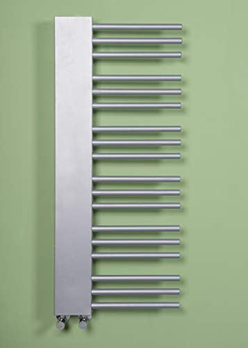 Wärmehaus Designer Handtuchheizkörper Badheizkörper 1085x450mm Silber