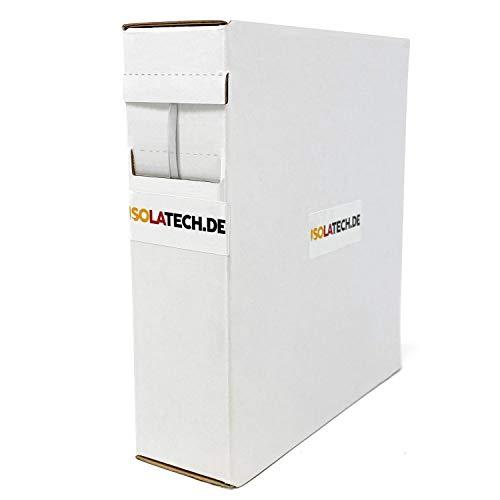 Mini Box 2:1 Trasparente 6,4mm 10m Guaina Termorestringente arrotolare in una pratica scatola dispenser. Di ISOLATECH