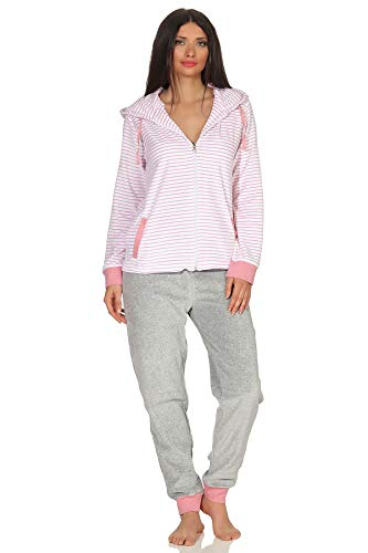 NORMANN wasmachine dames Nicki huispak - strepenlook - Homewear Loungewear - tot maat 52/54, 291 216 98 238