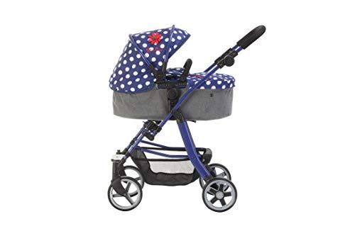 Silver Cross Pioneer 5-in-1-poppenwagen - stof Limited Edition Blue Polka Dot. Voor kinderen van 4 tot 8 jaar.
