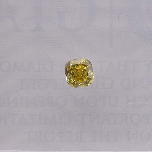 0.15Cts Fancy Deep Brownish Yellow Loose Diamond Natural Color Cushion Cut GIA