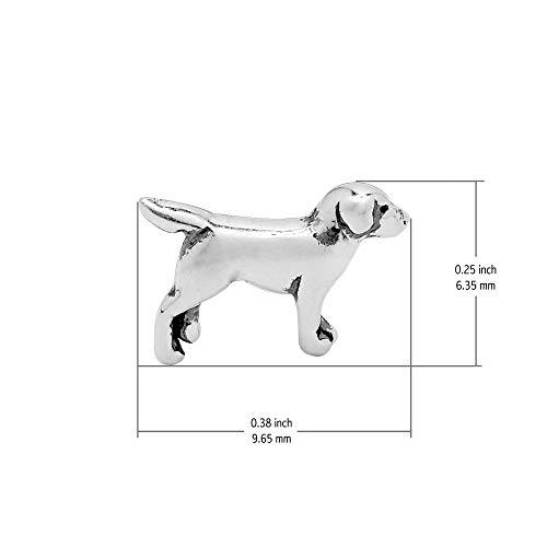 Boma Jewelry Sterling Silver Labrador Retriever Dog Stud Earrings