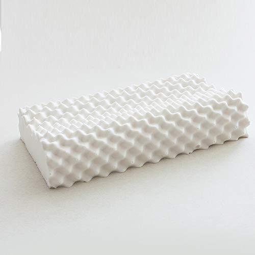 LOGO Almohada de látex natural tailandesa almohada de goma de memoria masaje almohada cervical almohada Comfort hotel cervical almohada almohada cojín amortiguador del sofá Oficina almohada reposacabe