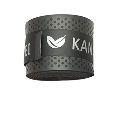 CandyTT Racchetta da Tennis Elastica PU Overgrip Anti-Skid Sudore Assorbito Soft Wrap Taps Tenis Racquet Damper Dry/Vibration Tacky Grips (Nero)