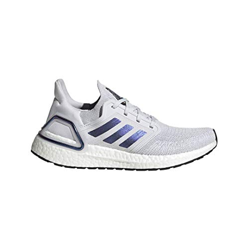 adidas Women's Ultraboost 20 Running Shoe, Dark Grey/Boost Blue Violet Metallic/Black, 8 M US