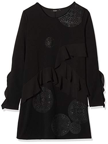 Desigual Vest_flopo Vestido, Negro (Negro 2000), Large para Mujer