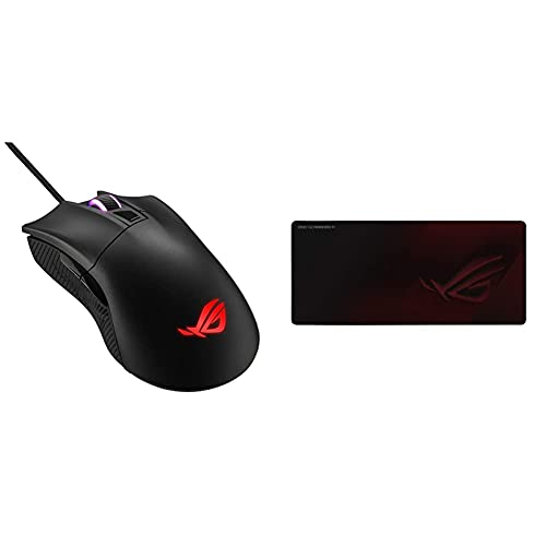 ASUS ROG Gladius II Core Gaming Mouse & ROG Scabbard II Mouse Pad
