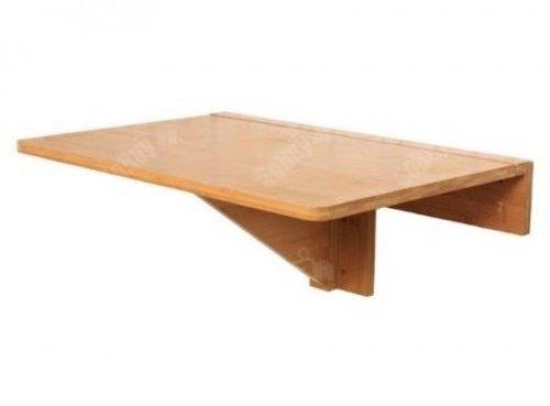 SoBuy Mesa plegable de pared Mesa plegable Mesa Mesa de cocina Mueble infantil de bambú FWT031-N 60x40cm Color: bambú natural