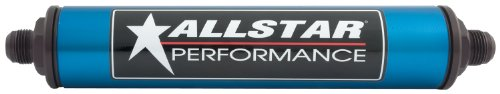Allstar Performance ALL40217 Black 10 Micron 10 AN In-Line Fuel Filter