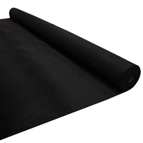 T-Mech Auto-Verkleidung Autostoff Teppich-Verkleidung Auto-Polsterstoff Fahrzeug Innenraum Bezugsstoff Dachhimmel Verkleidung | INKLUSIVE 5 x Klebstoff-Sprühdosen Schwarz
