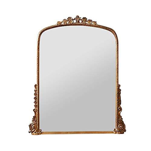 bath Espejo de Pared, Espejo de Maquillaje Vintage Europeo, Espejo Grande de decoración para el hogar, Adecuado para Sala de Estar, Dormitorio, Pasillo