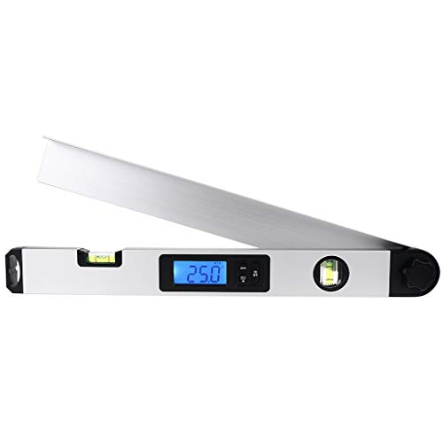 Ocobudbxw, indicador de Nivel de indicador de ángulo de transportador Digital Grande, Regla de inclinómetro 0-230 ° 40cm
