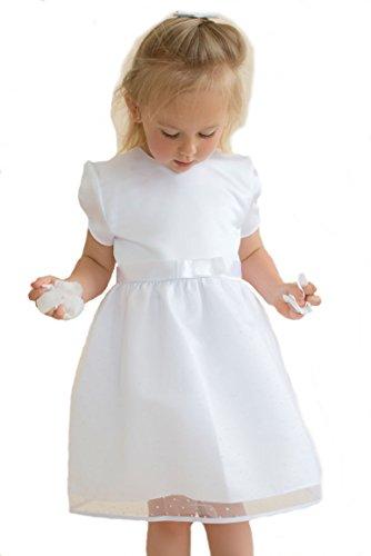 HOBEA-Germany Taufkleid Blumenmädchen Baby Festkleid, Modell: Emilia, Größe Kleider:80