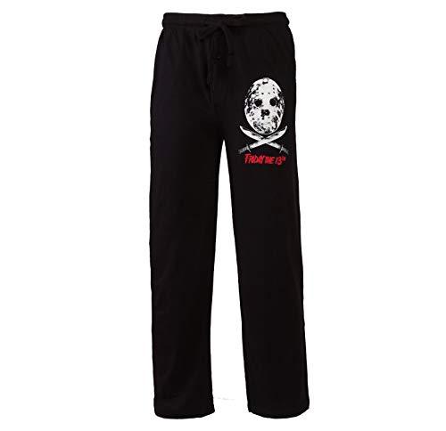 Friday The 13th Jason Mask Adult Pajama Pants - Black (Small)