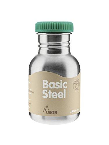 Laken Botella de Acero Inoxidable 0,35L Tapón Verde