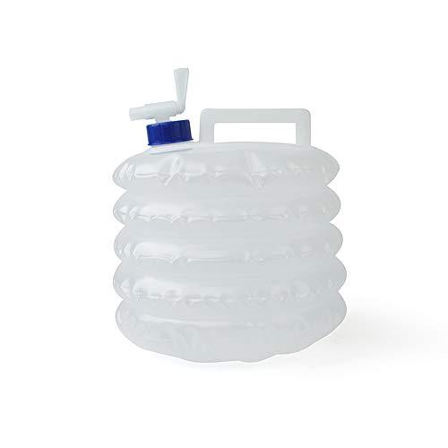 BENPAO 5L Seau Pliant en Plein air Portable Pliable réservoir d'eau transporteurs d'eau en Plastique Sac à Boire avec Robinet pour Camping Escalade Voyage randonnée Chasse