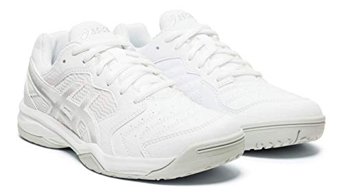 ASICS Gel-Dedicate 6 Women's Tennis Shoes, White/Silver, 9.5 M US