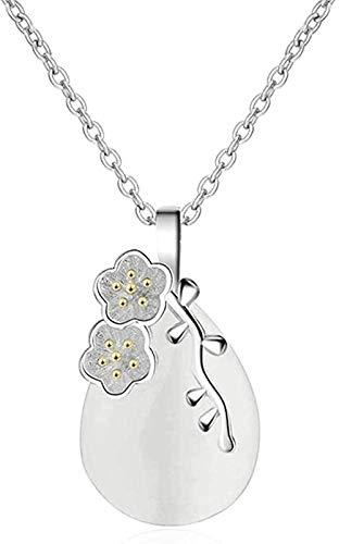 ZPPYMXGZ Co.,ltd Necklace Fashion Vintage Water Drop Shaped Opal Pendant Necklace for Women Handmade Necklace