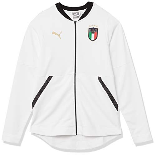 PUMA Damen FIGC Jacke, White Team Gold, Klein