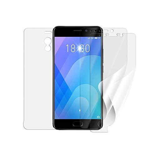 Protector de pantalla ScreenShield para MEIZU M6 Note (3 unidades,2 versiones)-cobertura total de la pantalla y parte trasera; cuando se utiliza con o sin funda de teléfono móvil; sin cristal blindado