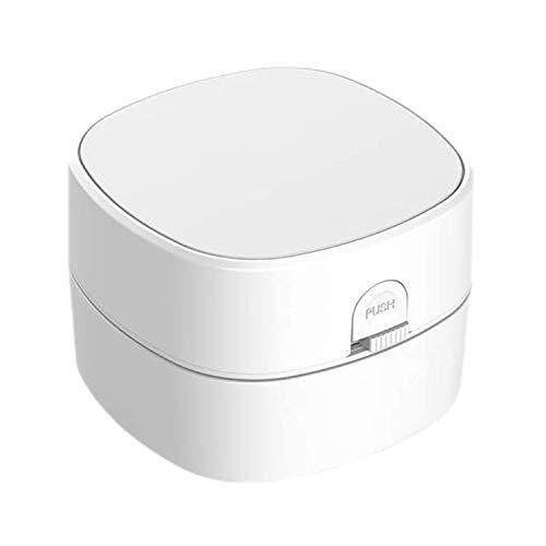 Fransande - Aspirador de escritorio inalámbrico portátil, colector de polvo inalámbrico, limpiador de escritorio, para la oficina de casa, color blanco